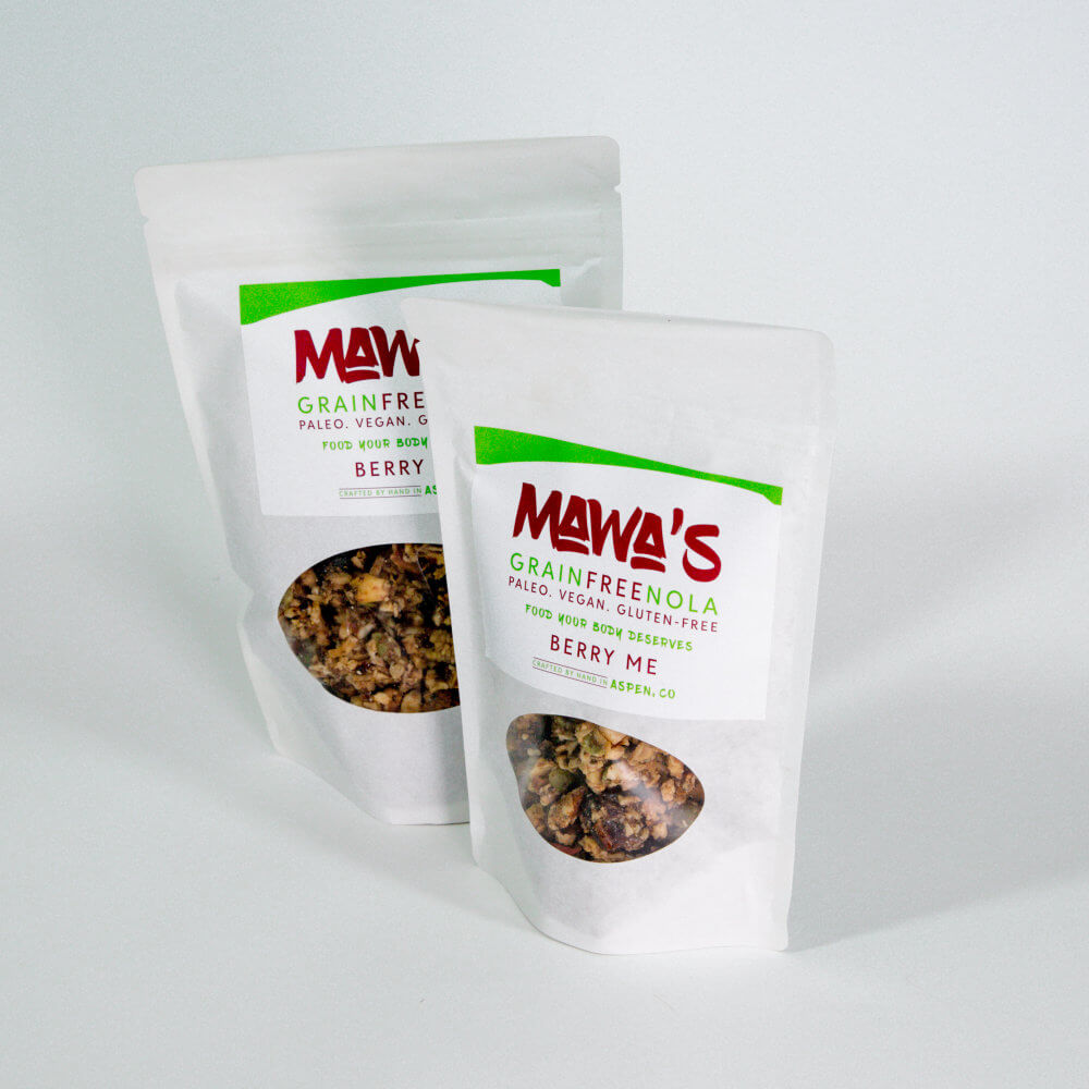 Available in 4 oz and 8 oz bags - Bery Me GrainFreeNola - Paleo. Vegan. Gluten-Free Hand-crafted Granola