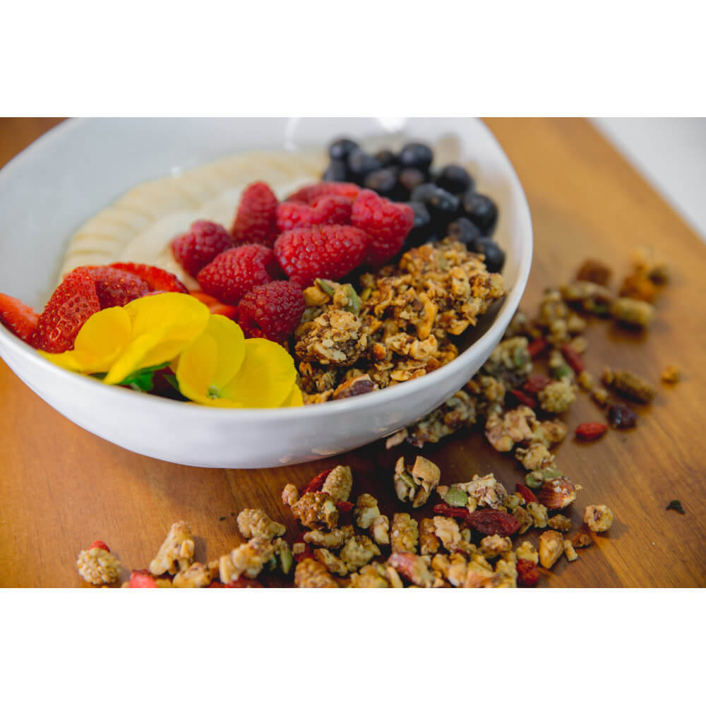 Berry-rich Goodness! Berry Me GrainFreeNola - Paleo. Vegan. Gluten-Free Hand-crafted Granola
