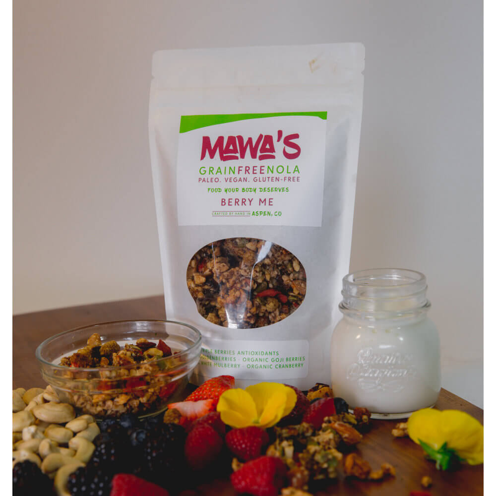 All Natural, Organic Ingredients! Berry Me GrainFreeNola - Paleo. Vegan. Gluten-Free Hand-crafted Granola