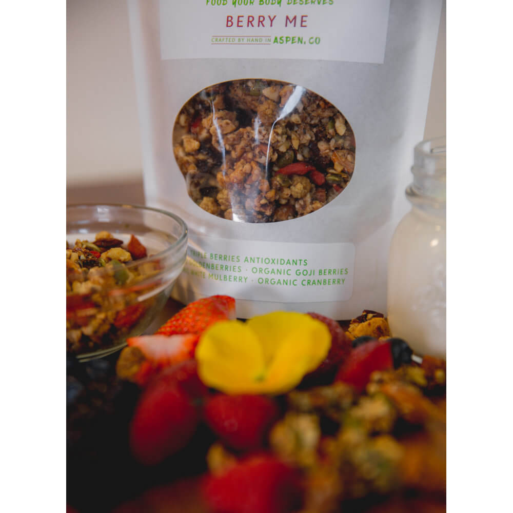 All Natural, Organic Ingredients! Berry Me GrainFreeNola - Paleo. Vegan. Gluten-Free Hand-crafted Granola