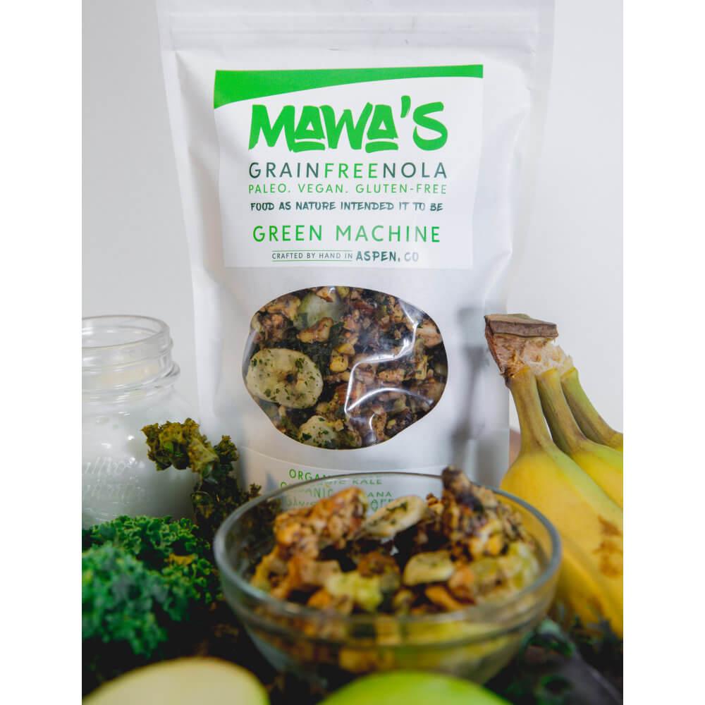 All Natural, Organic Ingredients! Green Machine GrainFreeNola - Paleo. Vegan. Gluten-Free Hand-crafted Granola