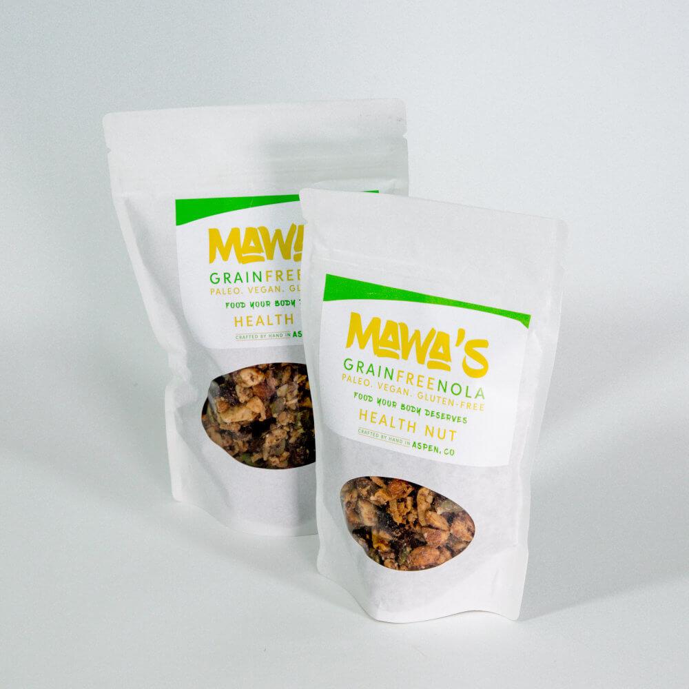 Available in 4 oz and 8 oz sizes. Health Nut GrainFreeNola - Paleo. Vegan. Gluten-Free Hand-crafted Granola