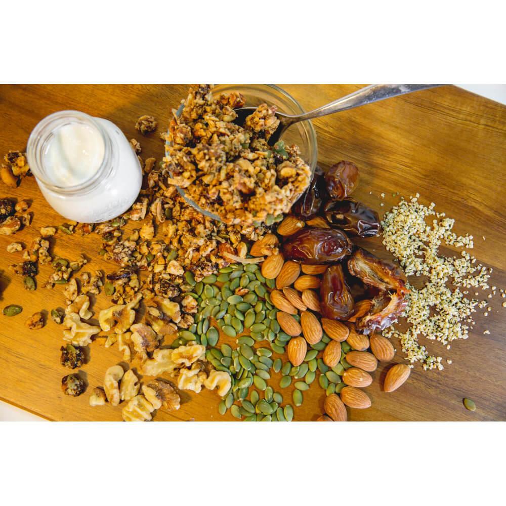 Part of Your Healthful Breakfast. Health Nut GrainFreeNola - Paleo. Vegan. Gluten-Free Hand-crafted Granola