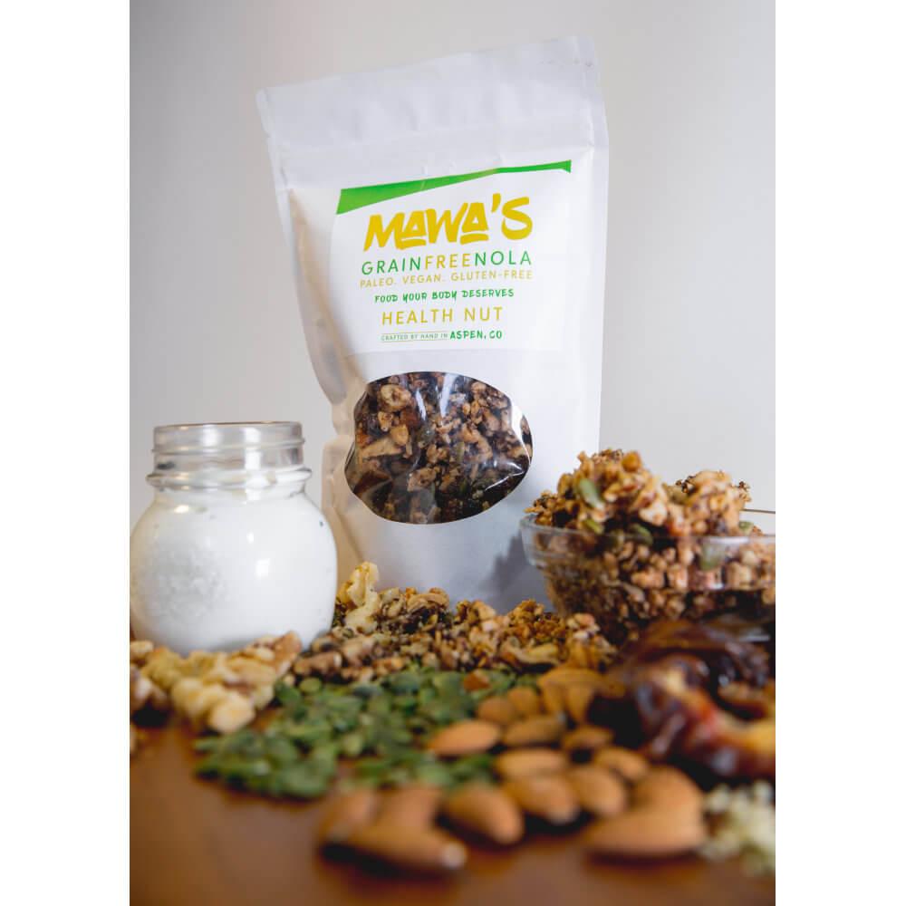 All-Natural, Organic Ingredients - Health Nut GrainFreeNola - Paleo. Vegan. Gluten-Free Hand-crafted Granola