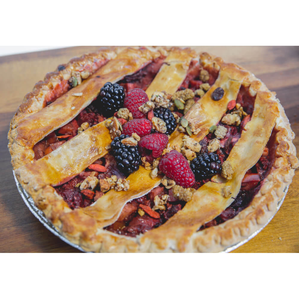 Delightfully Crunchy Pie Topping! Health Nut GrainFreeNola - Paleo. Vegan. Gluten-Free Hand-crafted Granola