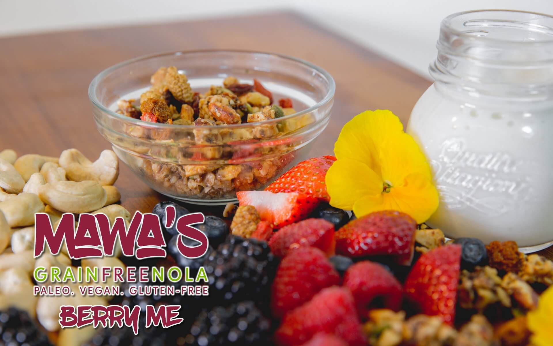 Mawa's GrainFreeNola - Berry Me Paleo, Vegan, Gluten-Free Granola