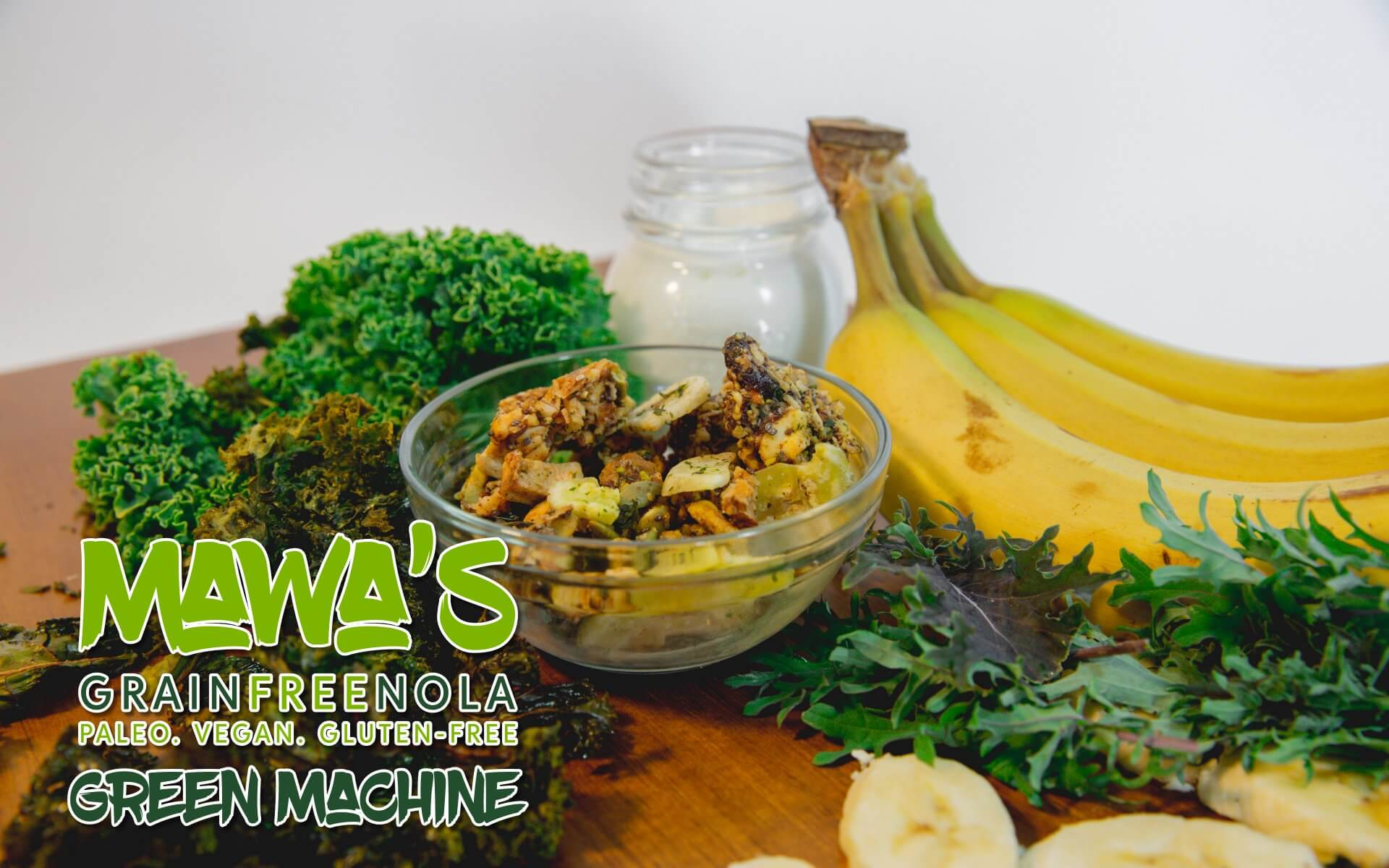 Mawa's GrainFreeNola - Green Machine Paleo, Vegan, Gluten-Free Granola