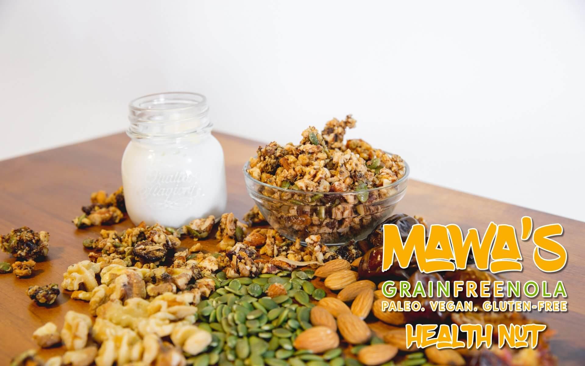 Mawa's GrainFreeNola - Health Nut Paleo, Vegan, Gluten-Free Granola