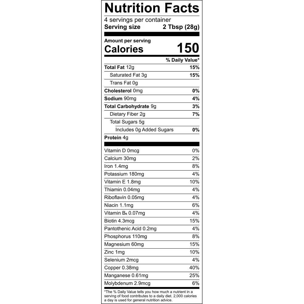 Nutritional Information Label - Out of Africa GrainFreeNola - Paleo. Vegan. Gluten-Free Hand-crafted Granola