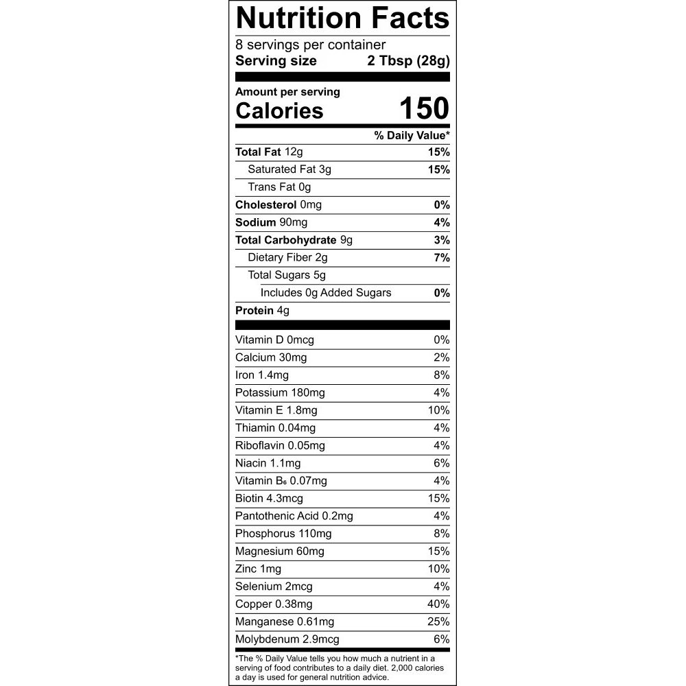 Nutritional Information Label - Out of Africa GrainFreeNola - Paleo. Vegan. Gluten-Free Hand-crafted Granola