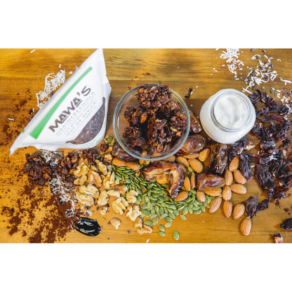 All Natural, Organic Ingredients! Out of Africa GrainFreeNola - Paleo. Vegan. Gluten-Free Hand-crafted Granola