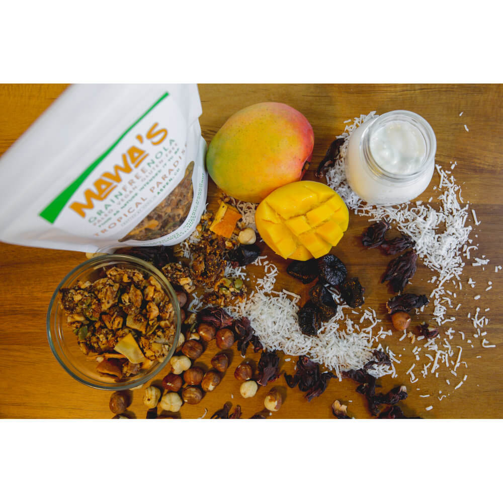 Part of Your Healthful Breakfast. Tropical Paradise GrainFreeNola - Paleo. Vegan. Gluten-Free Hand-crafted Granola