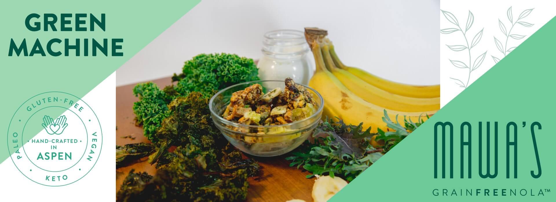 Mawa's GrainFreeNola -Green Machine Paleo, Vegan, Gluten-Free Granola